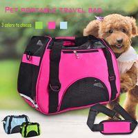 Cubiertas de asiento de coche para perros Kimhome Bolsas para mascotas para perros pequeños Grid Tela transpirable Bolsa Portátil Carrier de viaje CATS MEDIO
