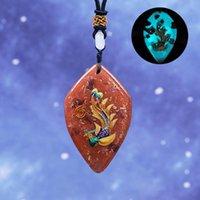 Naszyjniki wisiorek Cloisonne Naszyjnik Phoenix - biżuteria mitologiczna Bird Orgone Energy Medytacja Jewlry