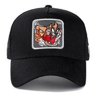 wholesale Brand Anime Cartoon Snapback Cap TAZ Black Gray Embroidered Cotton Baseball Cap Men Women Hip Hop Dad Hat Trucker Mesh Hat