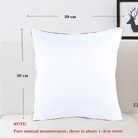 40x40cm Sublimação DIY Travesseiro Case Transferência de Calor Printing Pillowcase Almofada Poliéster Pillowslip Navio Grátis HWD7341