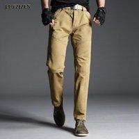 Original Luyzjzen Moda Homens Militar Calças de Carga Calças Casuais Fitness Multi-bolsos Lazer Algodão Pant Gym Roupas Top 52 homens