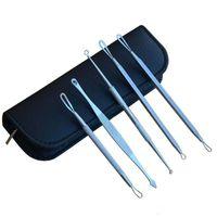 30sets 5Pcs set DHL Free Blackhead Needle Pimple Blemish Extractor Remover Black Head Acne Tool Kit Make Up Skin Care