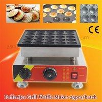 Bread Makers Electric 25pcs Poffertjes Mini Dutch Pancake Machine Maker Waffle Baker Iron Grill Nonstick Pan