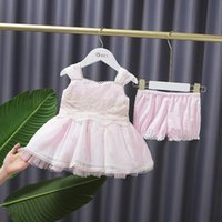 Lolita Baby Girl Outfit For Toddler Embroidery Dress And Shorts 2 Pcs Clothing Set Spanish Ins Fashion Designer Clothes Sets