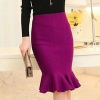 Skirts 2021 Spring Office Womens Bodycon Midi Skirt Elegant Ruffles Flounce Sexy High Waist Party