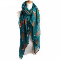 Новая мода милый животное печать бесконечности шарф женские шали лисы шарфы для женщин женская девушка девушка буфандас мохер waj0115