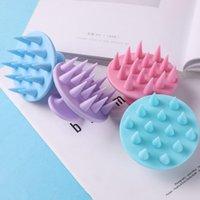 Cepillos para el cabello Silicone Shampoo Scalp Massager Massage Peine Cepillo de baño Herramienta de cuidado de la ducha