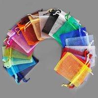 수십 개의 크기 메쉬 Organza 가방 보석 선물 주머니 웨딩 파티 크리스마스 사탕 Drawstring 가방 패키지 크기 7x9 9x12 10x15 15x20 20x30 30x40