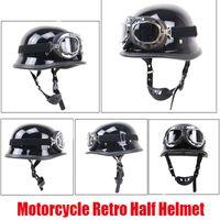 Motorrad Retro Helme Helm Outdoor Reiten Schutz mit Glas Kapazität für Lokomotive Motorrad Helme Rennen Deutsch