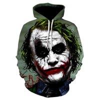 Fashion Clown 3d Printing Hoodies Cosplay Costume Men Women Hoodie Cartoon Joker Halloween Sweatshirt Personality Coat Plus Size