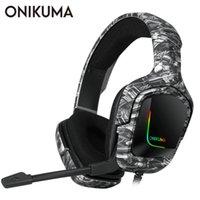 Onikuma K20 Game cablato Cuffie con microfono RGB Light Gaming Cuffies Auricolari Annullamento del rumore Auricolari per PS4 Xbox One Gamer per cuffie
