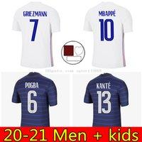 Jersey de football 2021 France Coupe Maillot de Foot Equipe Maillots de Football Shirt Uniformes 20 21 100 ans Hommes + Kit Kit