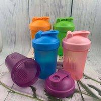 زجاجات المياه drinkware المطبخ الطعام بار المنزل حديقة 400 ملليلتر مصل اللبن بروتين مسحوق خلط زجاجة الرياضة اللياقة البدنية شاكر