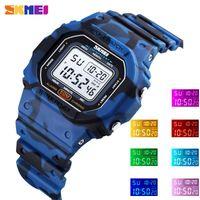 Wristwatches SKMEI Outdoor Digital Men Women Watches Sport Chrono Colorful LED Display Electronic Bracelet Clock Waterproof Male Wristwatch