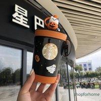 Starbucks Halloween mug tumbler contigo pumpkin bear Play the ghost Stainless Steel Portable straw cup