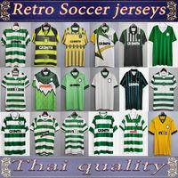Larsson Celtic Retro 01 03 Jerseys de futebol Home 95 96 97 99 Camisas de futebol Sutton Nakamura Keane 05 06 89 91 85 85 Vintage clássico