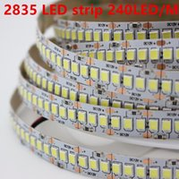 1 2 3 4 5m lot 10mm PCB 2835 SMD 1200 LED Strip tape DC12V 24V ip20 Non waterproof Flexible Light 240 leds m, White Warm White