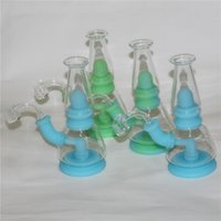 Portable Shisha Tobacco Smoking Pipes Silicone Water Bong With 4mm thick quartz banger FDA Silicon Dab Rigs Oil Rig Bongs Accessories