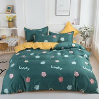 Bedding Sets Printed Solid Set Household High-Quality Pattern Cotton Four-Piece Three-Piece Bed Linen Quilt Cover Pillow