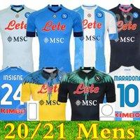20 21 Napoli 축구 유니폼 나폴리 축구 셔츠 2021 Koulibaly Camiseta de Fútbol Insigne Maradona Maillot Foot Mertens Camisa 05