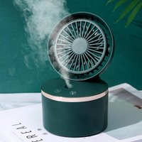 Electric Fans USB Desk Mini Fan Portable Air Cooler Conditioner Recharge Desktop Cooling Humidifier Purifier For Office Bedroom