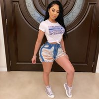 Womens Distressed Jeans Short Sexy Women Denim Ripped Hotpant Jeans Casual Fashion Style Holes Short Pants