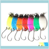 Baits Sports & Outdoors100Pcs Metal Spoon Lures 3M 3G Hard Spinner Jigging Bait Fishing Tackle Mix Color Drop Delivery 2021 Xqiby