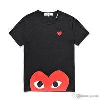 C-D-G Tee TEE MENS Designers T Shirts Com Algodón Impreso Corazón Deporte Tee Shirts Blanco Des Garcones Camiseta para VETEMENTES DE VERANO