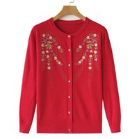 Women's Knits & Tees Vintage Knitted Cardigan Sweater Women Cardigans Tops Cashmere Casual Jacket Chic Woman's