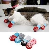 4pcs Puppy Dog Shoes Warm Cat Non-Slip Socks Pet Cute Indoor For Small Dogs Cats Snow Boots S M L Supplies Apparel