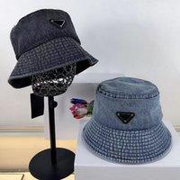 Moda Tasarımcılar Kapaklar Şapka Erkek Gömme Kap Kova Şapka Lüks Beanie Bonnet Yıkanmış Denim Metal Üçgen Kadınlar Yüksek Kalite 2021042304sx
