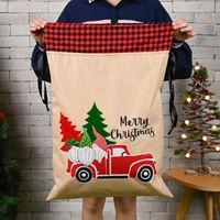 財布70 * 45cmクリスマスバッグ2021キャンバス文字列ホルダーツリーカープリントサンタのキャンディプレゼント