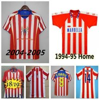 Atletico Madrid 2003 2004 2004 Jerseys de football rétro 1994 1994 18 19 F.Torres Home Rouge Blanc Vintage Camiseta de futbol Classic Commemorer la chemise de football