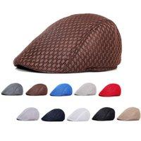 الصيف عارضة القبعات القبعات للجنسين شبكة مسطحة قبعات newsboy نمط قابل للتعديل الأزياء تنفس قبعة للنساء الرجال كاب