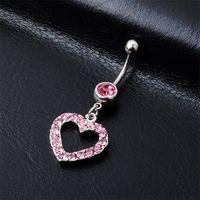 (4 couleurs) Style de coeur Navel Anneaux de nombril Boite Boite Piercing Bijoux Bijoux Pennst Accessoires Charmes de mode (10pcs / Lot) JFB-3245 666 T2