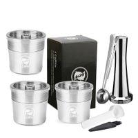 RECAFIMIL Nachfüllbare Kapsel Aufkleber Filterbecher für Illy x y Kaffeemaschine Metall Edelstahl Kaffee Pod 210331