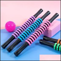 Aessies Equipamientos Suministros Deportes OutdoorsGym Fitness Gear Muscle Masr Yoga Roller Roller Stick Pierna trasera Deep Fascia Rod Scroll Bod Bod
