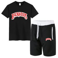 Erkek Eşofman Yaz Backwoods Kısa Kollu Eğlence Spor Coat Spor Pantolon 5-Puan Şort + T-shirt Seti Cy6e
