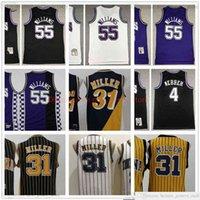 Retro Baskeball 55 Jason 4 Chris Williams Webber Jersey 31 Reggie Stitched Miller Jerseys Branco Roxo Amarelo MN Vintage Homem S-XXL