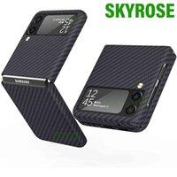 Aramid fiber mobile phone case, carbon shell, matte, ultra-thin, three-dimensional, Galaxy Z flip 3, 5g