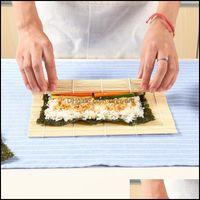 Cocina, Comedor Bar Home Gardendiy Maker Japonés Bambú Rolling Mat Rolls Reutilizable Cocina Cocina Gadget Conjuntos Molde Sushi Herramientas Drop de