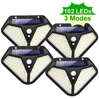 102 LED Solar Light Outdoor Powered Sunlight 3 Modes PIR Motion Sensor for Garden Decoration Wall Street Lamp