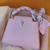 2021 Topphandtag Väskor Designers Luxurys Handväskor Purses Kvinnor Totes Ladies Crossbody Shoulder Bag Capucin Senior Wallet