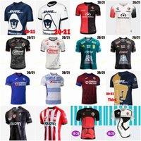 2020 2021 멕시코 리가 Xolos 드 Tijuana 홈 멀리 축구 유니폼 21 20 Cruz Azul Atlas Leon Necaxa Morelia Pachuca Unam 축구 셔츠