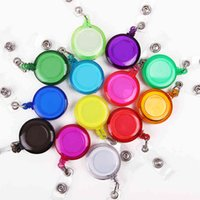 Business Card Files Colorful Retractable Reels with Metal Belt Holder ID Badge Reel Clip On Holders NQK7