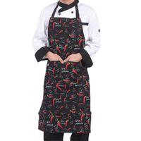 Aprons Adjustable Half-length Adult Apron Striped El Restaurant Chef Waiter Kitchen Cook With 2 Pockets #BO