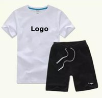 Yaz Giyim Setleri Ince Tasarımcı Çocuk Giyim Erkek T-Shirt Üstleri Şort Kızlar Kısa Kollu Spor Klasik Baskı Tops