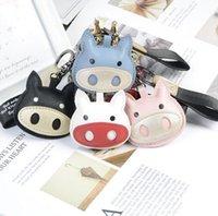 Cartoon Pig Design Simulated Animal Key Chain Brand Designer Bag Backpack Print KeyRing Charm Cartoon Pattern Car Keychain Phone Pendant Hanging Ornament