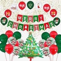 Conjunto de globo de Navidad 30 unids, decoración de fiestas, globos de fiesta de navidad, globos de látex rojo y verde globos confeti
