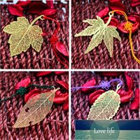Golden Fine Lines Leaf Veins Sycamore Butterfly Dragonfly Rose Flower Feather Business Gift Golden Bookmark